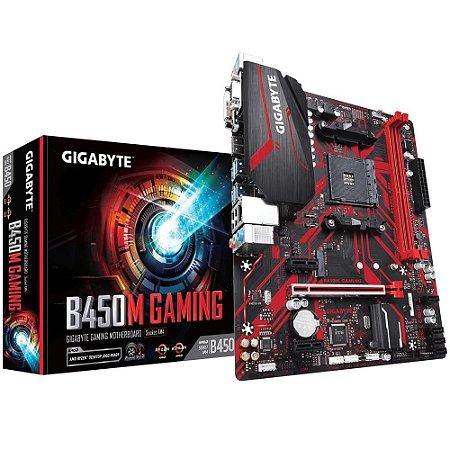 PLACA MÃE GIGABYTE B450M GAMING, AMD SOCKET AM4 DDR4, MICRO ATX