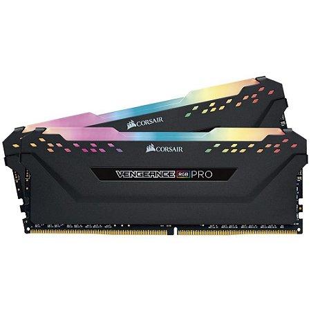 MEMÓRIA CORSAIR VENGEANCE RGB PRO 32GB (2X16GB) 3200MHz DDR4, CMW32GX4M2C3200C16