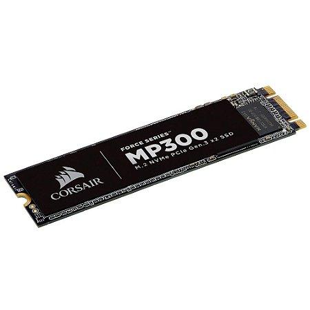 SSD CORSAIR FORCE SERIES MP300 480GB, M.2 NVMe, LEITURA 1600MB/s, GRAVAÇÃO 1040MB/s - CSSD-F480GBMP300