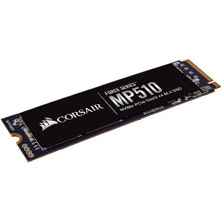 SSD CORSAIR FORCE SERIES MP510 240GB, M.2 NVMe, Leitura 3100MB/s, Gravação 1050MB/s - CSSD-F240GBMP510