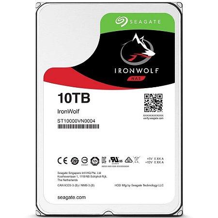 HD INTERNO SEAGATE 10TB IRONWOLF, 3.5´, SATA - ST10000VN0004