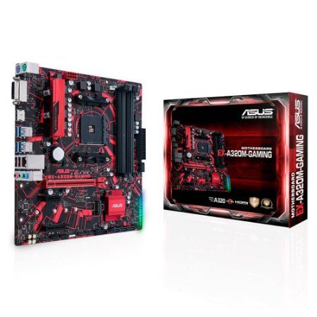 PLACA MÃE ASUS EX-A320M-GAMING, AMD AM4, DDR4, 90MB0VG0-M0EAYM