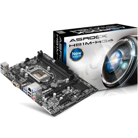 PLACA MÃE ASROCK H81M-HG4, INTEL LGA1150, DDR3, 90-MXGS90-A0BAY1Z