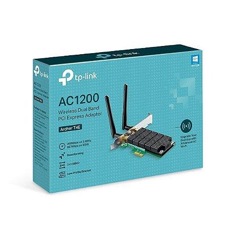 Adaptador Wireless TP-Link  AC1200, Pci Express, Dual Band, Archer T4E