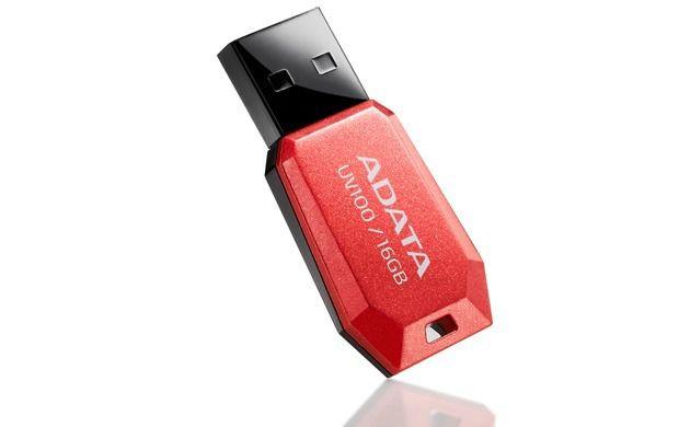 PENDRIVE ADATA CLASSIC UV100 16GB VERMELHO, AUV100-16GB-RRD