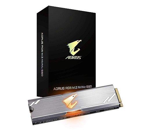 SSD GIGABYTE AORUS RGB M.2 NVMe 256GB, 3100MBs/1050MBs, GP-ASM2NE2256GTTDR