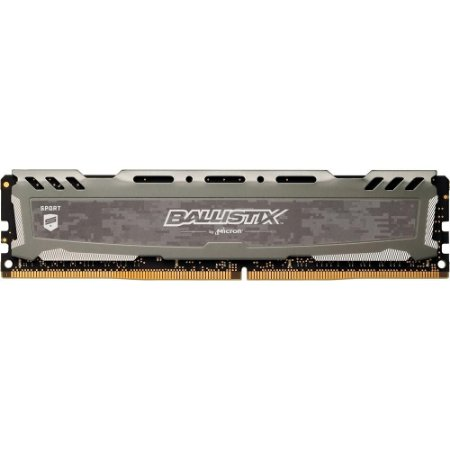 MEMÓRIA CRUCIAL BALLISTIX SPORT 8GB 2400MHz, DDR4, CINZA, BLS8G4D240FSBK