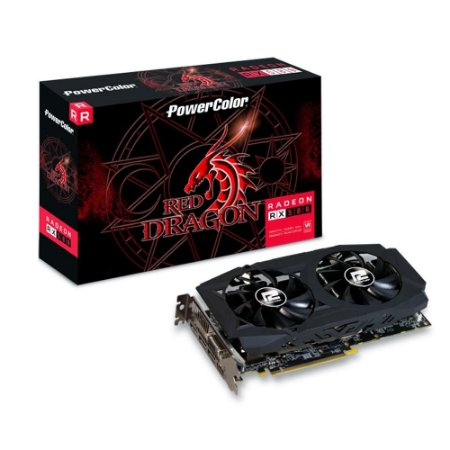 PLACA DE VÍDEO POWERCOLOR AMD RADEON RX 580 8GB, GDDR5, RED DRAGON, AXRX 580 8GBD5-3DHDV2/OC