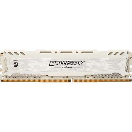 MEMÓRIA CRUCIAL BALLISTIX SPORT 8GB 3000MHz, DDR4, CL15, BRANCA, BLS8G4D30AESCK