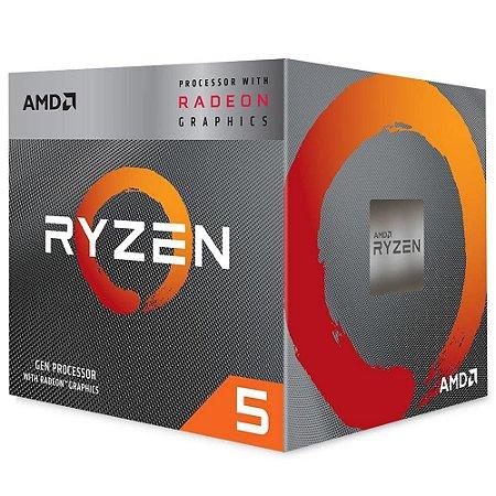 PROCESSADOR AMD RYZEN 5 3400G, CACHE 4MB, 3.7GHz (4.2GHz Max Turbo), AM4,  YD3400C5FHBOX