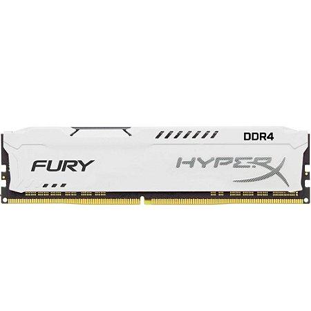 MEMÓRIA HYPERX FURY 8GB 2666MHz, DDR4, CL16, BRANCO - HX426C16FW2/8