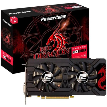 PLACA DE VÍDEO POWER COLOR RADEON RX 570 4GB, GDDR5, RED DRAGEON, AMD - AXRX 570 4GBD5-3DHDV2/OC