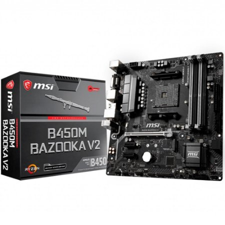 PLACA MÃE MSI B450M BAZOOKA V2, AMD AM4, mATX, DDR4