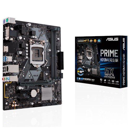 PLACA MÃE ASUS PRIME H310M-E R2.0/BR, INTEL LGA 1151 mATX, DDR4, 90MB11X0-C1BAY0