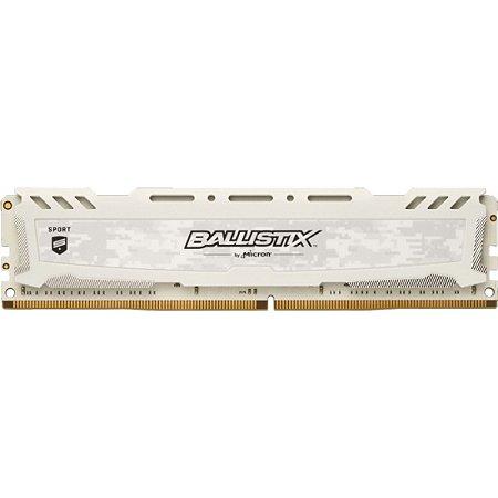 MEMÓRIA CRUCIAL BALLISTIX 16GB 3000MHz, DDR4, BRANCA - BLS16G4D30AESC
