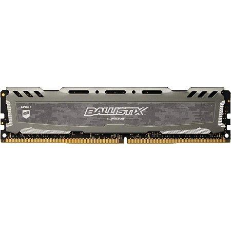 MEMÓRIA CRUCIAL BALLISTIX 8GB 3200MHz, DDR4, CINZA - BLS8G4D32AESBK