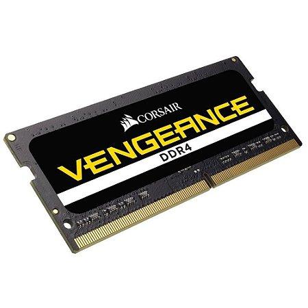 MEMÓRIA CORSAIR VENGEANCE NOTEBOOK 8GB 2666MHz, DDR4 - CMSX8GX4M1A2666C18