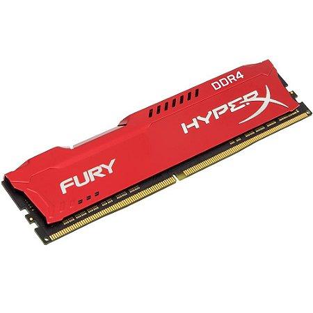 MEMÓRIA HYPERX FURY 16GB 3200MHz, DDR4, CL18, VERMELHA - HX432C18FR/16