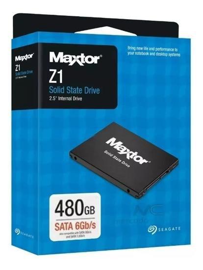 SSD SEAGATE MAXTOR Z1 480GB, SATA 6Gb/s, LEITURA 540MB/s, GRAVAÇÃO 475MB/s - YA480VC1A001