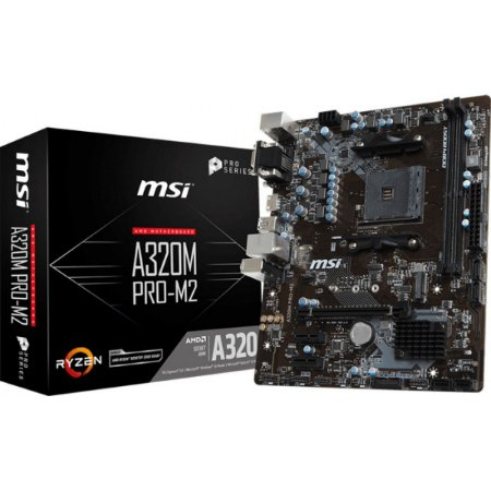 PLACA MÃE MSI A320M PRO-M2 V2, AMD AM4, CHIPSET A320, mATX, DDR4 -911-7B84-013