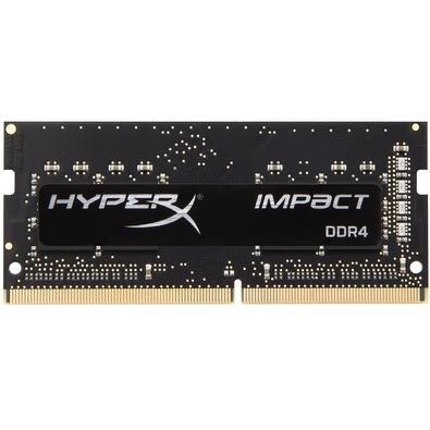 MEMÓRIA HYPERX IMPACT 8GB 2666MHz, DDR4, NOTEBOOK, CL15, PRETA - HX426S15IB2/8