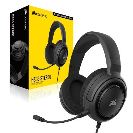 HEADSET GAMER CORSAIR  HS35 STEREO CARBON - CA-9011195-NA