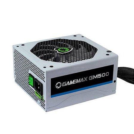 FONTE GAMEMAX GM500 WHITE 500W, 80 PLUS BRONZE ATX - GM500W - OEM