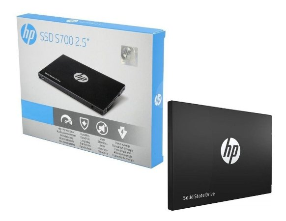 "SSD HP S700 250GB, 2.5"" SATA 6.0Gb/s, LEITURA 555MBs, GRAVAÇÃO 515MBs - 2DP98AA#ABL"