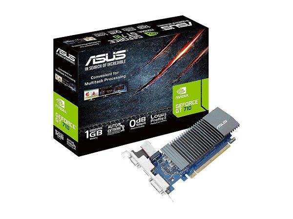 PLACA DE VÍDEO ASUS NVIDIA GEFORCE GT 710, 1GB GDDR5, LOW PROFILE - GT710-SL-1GD5