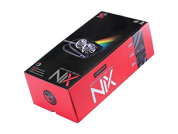 WATER COOLER PCYES NIX RGB 240MM, 2 FANS, PRETO - PWC240H40PTRGB