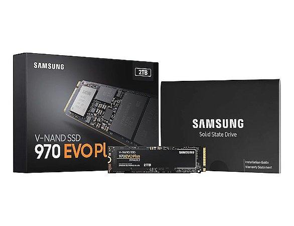 SSD SAMSUNG 970 EVO PLUS 2TB NVMe M.2, V-NAD, Leitura 3500MB/s, Gravação 3300MB/s - MZ-V7S2T0