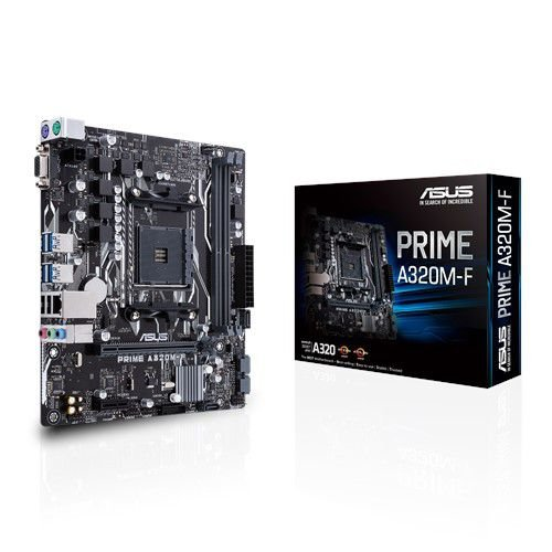 PLACA MÃE ASUS PRIME A320M-F, AMD AM4, DDR4 3200MHz - 90MB1130-M0EAY0