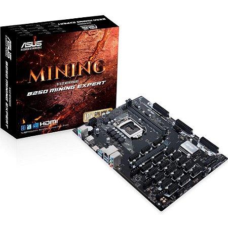 PLACA MÃE ASUS B250 MINING EXPERT, INTEL LGA 1151, ATX, DDR4 - 90MB0VY0-M0EAY0