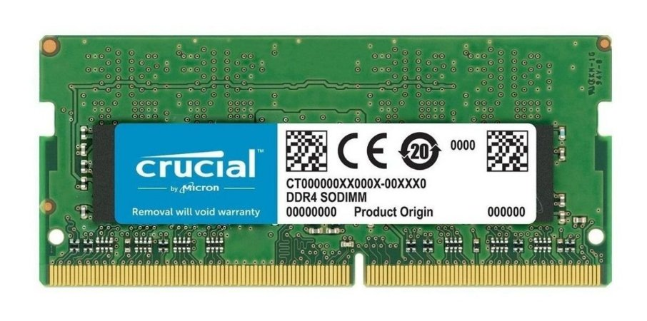 MEMÓRIA CRUCIAL NOTEBOOK 16GB 2666MHz, DDR4, CL19 - CT16G4SFD8266