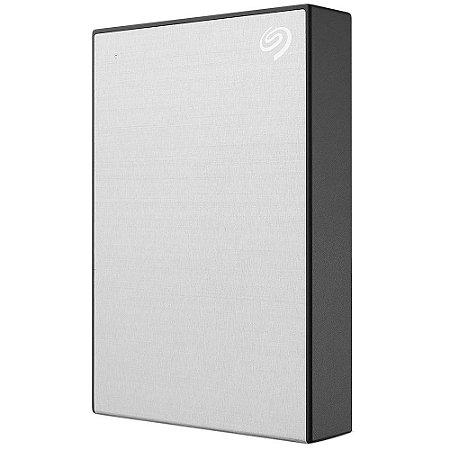 HD SEAGATE EXTERNO BACKUP PLUS PORTABLE 4TB, USB 3.0, PRATA - STHP4000401