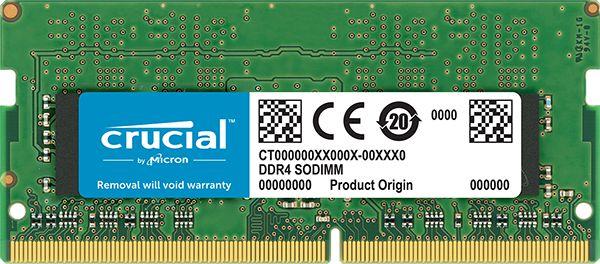 MEMÓRIA CRUCIAL NOTEBOOK 8GB 2666MHz, DDR4 - CT8G4SFRA266