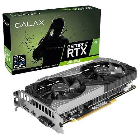 PLACA DE VÍDEO GALAX GEFORCE RTX 2060 SUPER (1-Click OC), 8GB GDDR6 - 26ISL6HP39SS