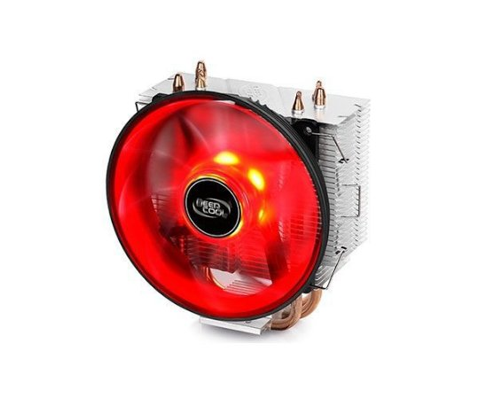 COLLER PARA PROCESSADOR DEEPCOOL GAMMAXX 300, LED VERMELHO, AMD/INTEL - DP-MCH3-GMX300RD
