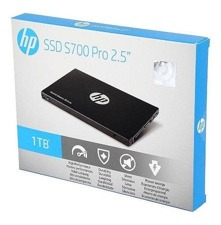 "SSD HP S700 1TB, 2.5"" SATA, LEITURA: 570Mb/s e GRAVAÇÃO: 525Mb/s - 6MC15AA#ABC"