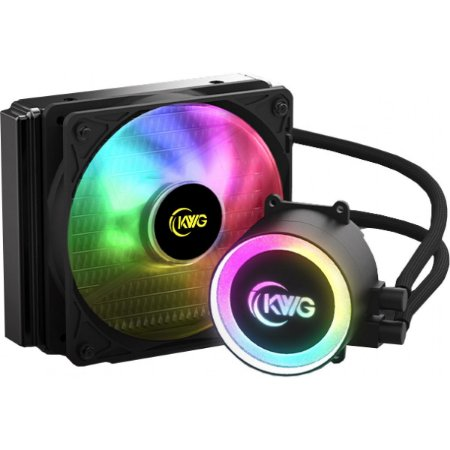 WATER COOLER KWG CRATER E1-120R, RGB, 120MM, INTEL/AMD