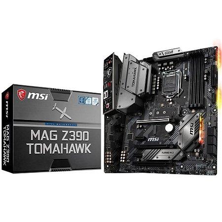 PLACA MÃE MSI MAG Z390 TOMAHAWK, INTEL LGA 1151, ATX, DDR4