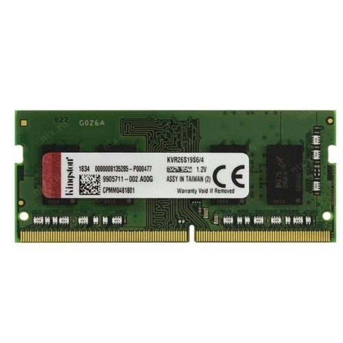 MEMÓRIA KINGSTON NOTEBOOK 4GB 2666MHz, DDR4, CL19 - KVR26S19S6/4