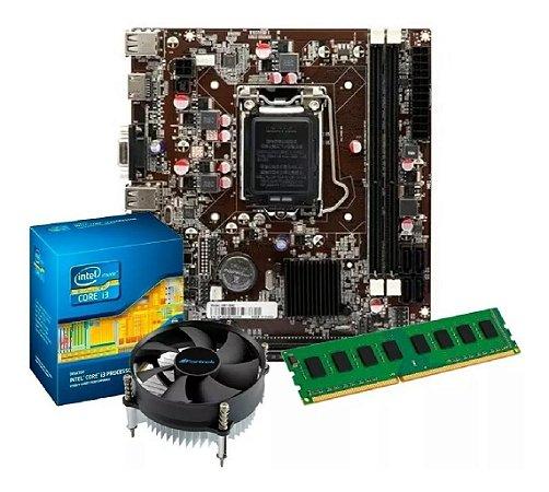 KIT UPGRADE H61M + PROCESSADOR I3 2100 + 4GB DDR3 1333mhz