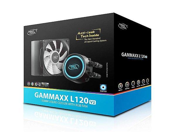WATER COOLER DEEPCOOL GAMMAXX L120T v2, 120MM, RGB, AMD/INTEL - DP-H12RF-GL120V2