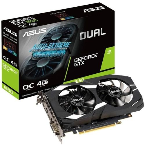 PLACA DE VIDEO ASUS GEFORCE GTX 1650 4GB GDDR5 DUAL OC 128-BIT, DUAL