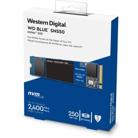 SSD M.2 NVMe 250GB WD Blue WDS250G2B0C 6Gbps 2400MB/s