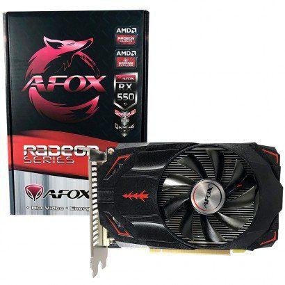 PLACA DE VIDEO AFOX RADEON RX 550 2GB 128-BIT, AFRX550-2048D5H3