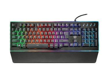 TECLADO GAMER TRUST GXT 860 THURA LED RAINBOW - T21839
