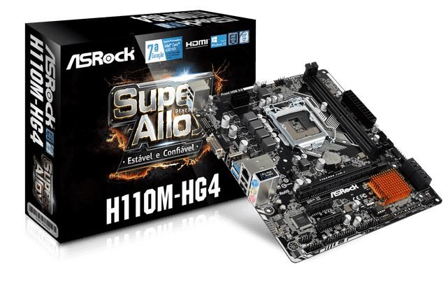 PLACA MAE ASROCK H110M-HG4 DDR4 SOCKET LGA1151 CHIPSET INTEL H110