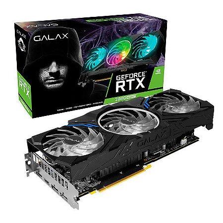 PLACA DE VIDEO GALAX GEFORCE RTX 2080 SUPER 8GB WORK THE FRAMES 256-BIT - 28ISL6MD49ES